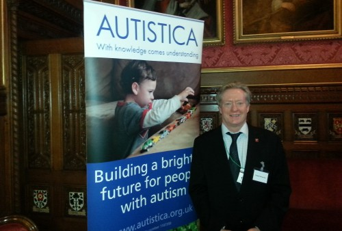 SUDEP Action Trustee professor Mike Kerr at the launch of the Autistica report