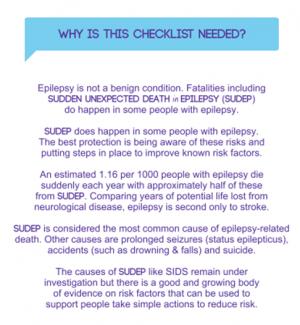 SUDEP and Seizure Safety Checklist | SUDEP Action